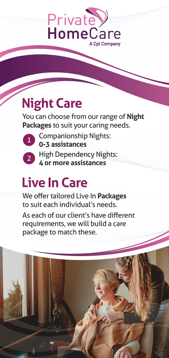 Night Care and Live in Care from Private HomeCare